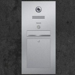 Briefkasten Edelstahl Gira Klingeltaster Beschriftung Unterputz