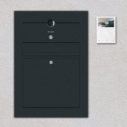 Briefkasten Anthrazit Video Kamera Anthrazit Unterputz Beschriftung
