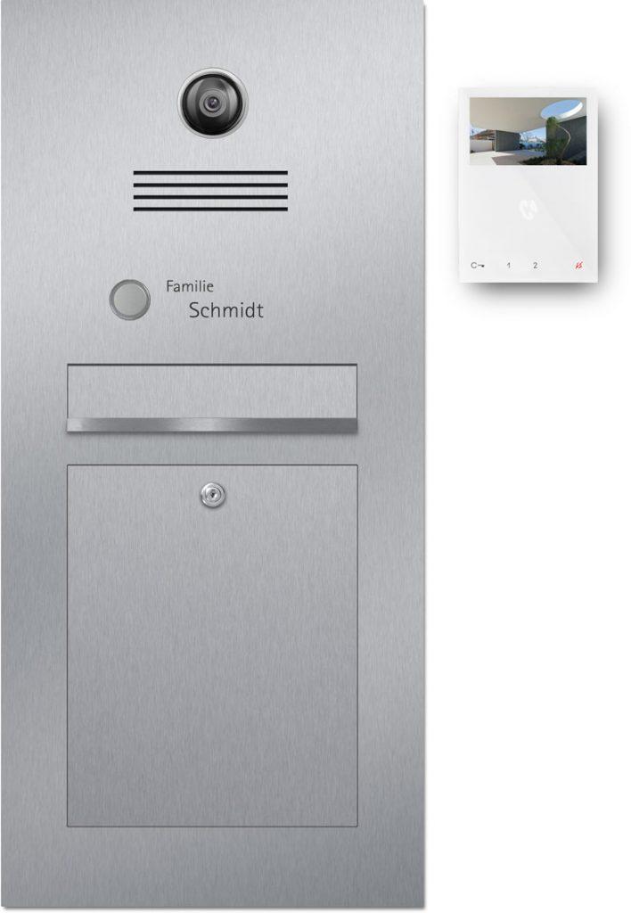 Türsprechanlage Edelstahl Konfigurator Kamera Beschriftung Klingel