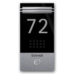 Edelstahl Türklingel Audio Klingeltaster beleuchtet Namensbeschriftung LED Beleuchtung