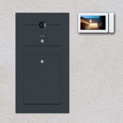 Briefkasten anthrazit Türsprechanlage Videosprechanlage