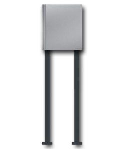 Briefkasten Edelstahl freistehend Wellen Modern Design