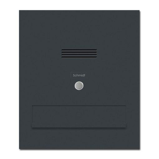 Briefkasten Durchwurfanlage Anthrazit RAL7016 Audio Gegensprechanlage Namensbeschriftung Klingeltaster