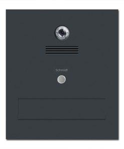 Durchwurfanlage Edelstahl Kamera Video Gira Gegensprechanlage Klingeltaster Namensbeschriftung pulverbeschichtet RAL7016 Anthrazit