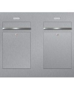 Briefkasten Edelstahl Unterputz Zweifamilien Namensschild austauschbar