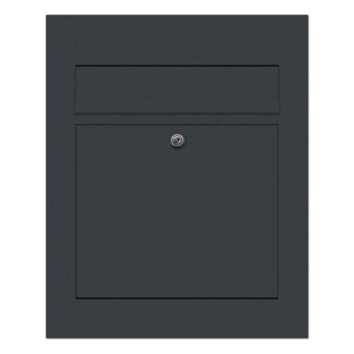 Briefkasten Edelstahl Unterputz Anthrazit RAL7016 Pulverbeschichtung