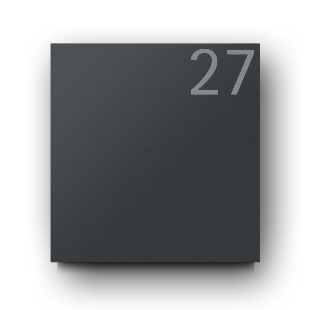Briefkasten Anthrazit - B1 Light Number 7016 OZ