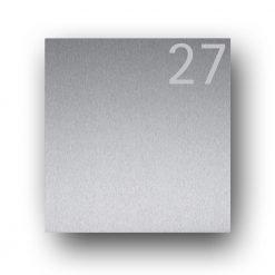 Briefkasten Edelstahl Hausnummer Namensbeschriftung Pulverbeschichtet Anthrazit RAL7016 DB703 Wandmontage