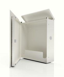 Briefkasten Edelstahl Pulverbeschichtet Weiss RAL9016 Wandbefestigung Türanschlag