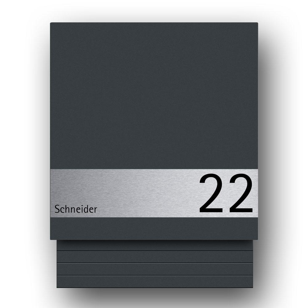 Edelstahl Briefkasten - B1 Light Shield