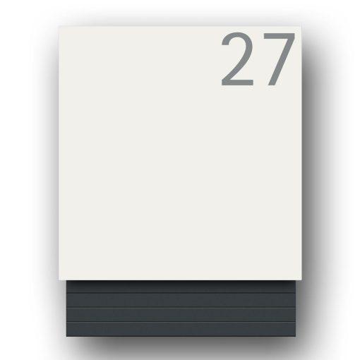 Briefkasten Edelstahl Wandmontage Hausnummer Namensbeschriftung pulverbeschichtet Weiss RAL9016 Anthrazit 7016