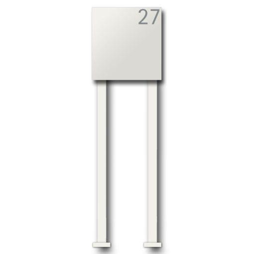Briefkasten Edelstahl Pulverbeschichtet Weiss RAL9016 Wandbefestigung Beschriftung Hausnummer Freistehend