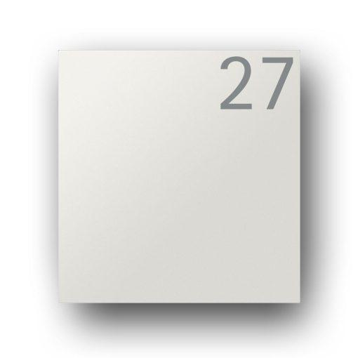 Briefkasten Edelstahl Pulverbeschichtet Weiss RAL9016 Wandbefestigung Beschriftung Hausnummer