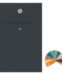 Briefkasten Edelstahl Unterputz Klingeltaster beleuchtet Beschriftung Anthrazit RAL7016 Pulverbeschichtung