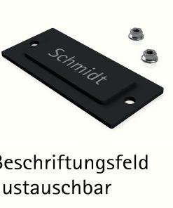Beschriftungsfeld Austauschbar Edelstahl Geschliffen Pulverbeschichtung RAL7016 Anthrazit