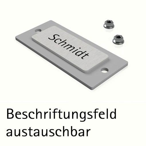 Beschriftungsfeld Austauschbar Edelstahl Geschliffen K240