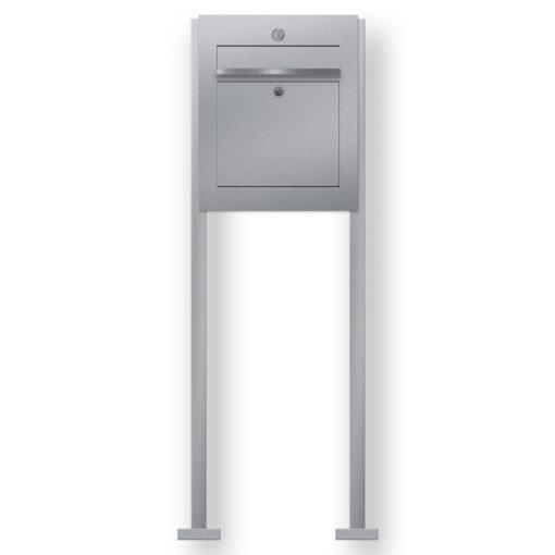 Briefkasten Edelstahl freistehend Briefeinwurf Klingeltaster beleuchtet LED Beschriftung