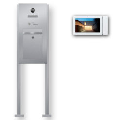 Briefkasten Edelstahl Videosprechanlage Klingeltaster beleuchtet freistehend Standfüsse Wlan Wifi