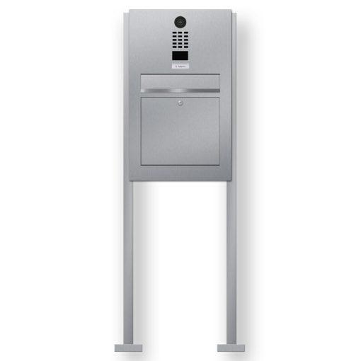 Briefkasten Edelstahl Gegensprechanlage Doorbird Klingeltaster beleuchtet freistehend Beschriftung
