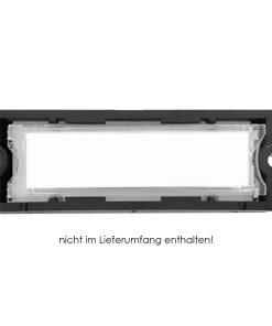 Edelstahl Briefkasten Videosprechanlage DoorBird Unterputz Name Beschriftung