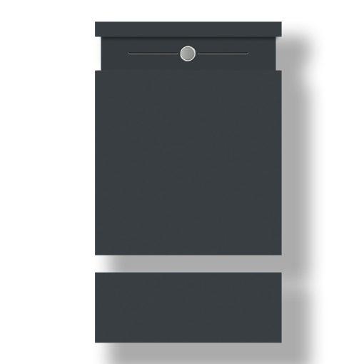 Briefkasten Edelstahl Wandbefestigung Anthrazit RAL7016 Pulverbeschichtet Klingeltaster LED