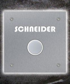 Türklingel Edelstahl LED Beleuchtung Beschriftung Unterputz Klingeltaster