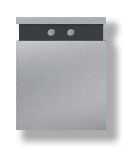 Briefkasten Edelstahl Wandbefestigung Anthrazit RAL7016 Pulverbeschichtet Klingeltaster LED Doppelklingel Glocke Lampe