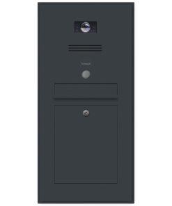 Briefkasten Edelstahl B3 Busch-Jaeger Namensbeschriftung Unterputz Klingeltaster beleuchtet Schattenfuge Rahmen