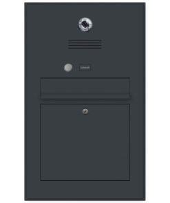 Edelstahl Briefkasten Video Kamera Gira Gegensprechanlage Klingeltaster Unterputz Anthrazit RAL7016
