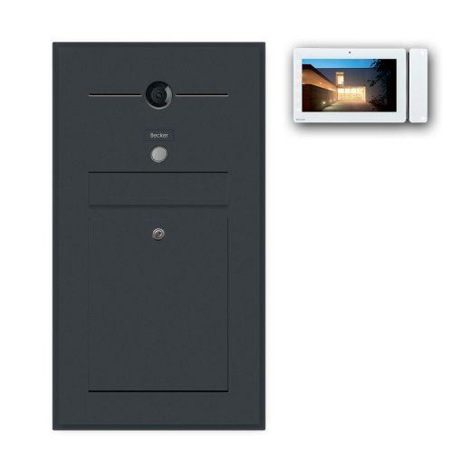 Briefkasten anthrazit Türsprechanlage Videosprechanlage Gegensprechanlage Wlan Wifi Unterputz RAL Klingeltaster Schattenfuge Rahmen