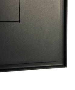 Briefkasten Edelstahl Anthrazit RAL7016 Pulverbeschichtung Schattenfugen Rahmen