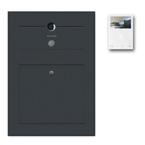 Briefkasten anthrazit Türsprechanlage Videosprechanlage Gegensprechanlage Wlan Wifi Unterputz RAL Klingeltaster