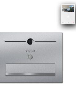 Zaunbriefkasten Edelstahl Türsprechanlage Video Comelit MiniHF Wifi Wlan Smartphone App Klingeltaster LED