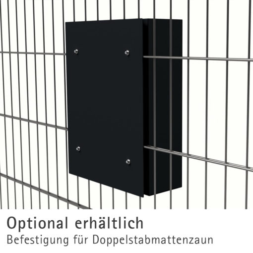 Briefkasten Edelstahl Briefeinwurf Pulverbeschichtung RAL7016 Anthrazit Zaun Doppelstabmattenzaun