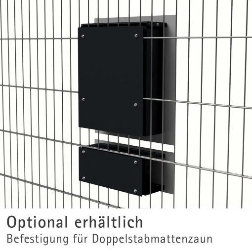 Briefkasten Edelstahl Zeitungsfach Briefeinwurf Pulverbeschichtung RAL7016 Anthrazit Zaun Doppelstabmattenzaun