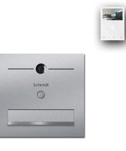 Zaun Zaunbriefkasten Edelstahl Türsprechanlage Video Comelit MiniHF Wifi Wlan Smartphone App Klingeltaster LED
