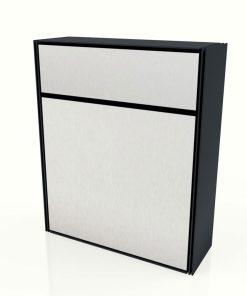 Edelstahl Briefkasten Aufputz Modern Pulverbeschichtung Anthrazit Briefeinwurf Entnahmetür Edelstahl Aluminium Post